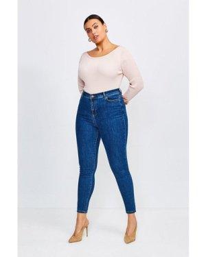 Karen Millen Curve 5 Pocket Skinny Jean -, Mid Wash