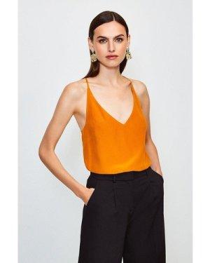 Karen Millen Silk Cami -, Orange