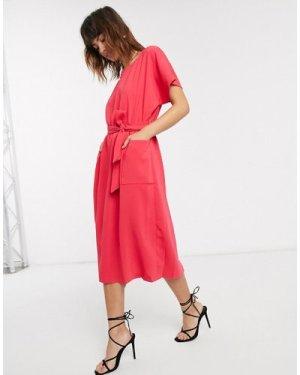 Closet kimono belted dress-Pink