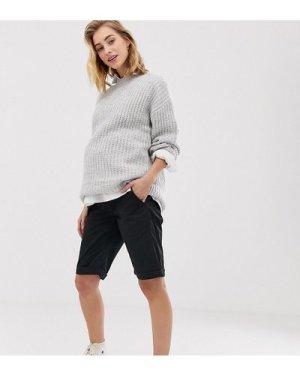 Mamalicious longline shorts-Black