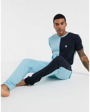 Le Breve lounge joggers-Blue