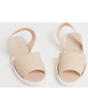 London Rebel jelly sandals-Beige