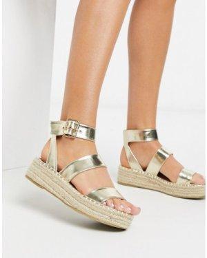 RAID Bellini espadrille sandals in gold