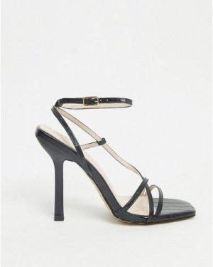 RAID Karla strappy sandals in black croc