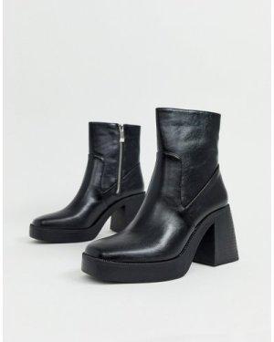 RAID Lexus black chunky ankle boots