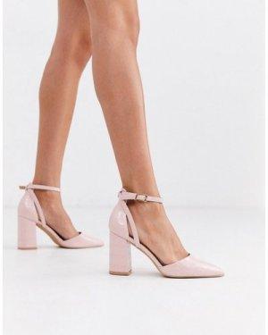 RAID Katy heeled shoes in pink croc