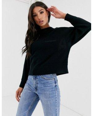 Calvin Klein Jeans intarsia logo knit-Black