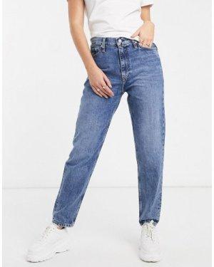 Calvin Klein Jeans archive high rise mom jean-Blue