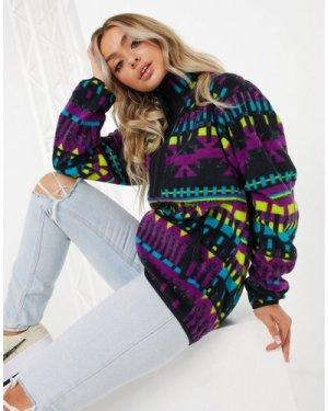 Columbia Back Bowl full zip fleece jacket in multi
