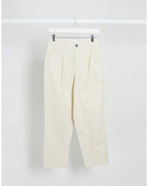 Mango slouchy trousers in beige