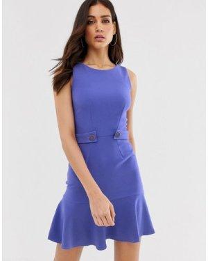 Closet flared hem shift dress-Purple