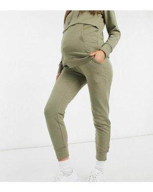 Mamalicious Maternity co-ord joggers in khaki-Green