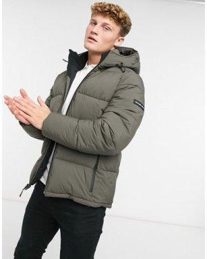 Abercrombie & Fitch ultra heavy puffer jacket in grey