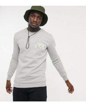 Le Breve Tall be kind logo sweatshirt in grey