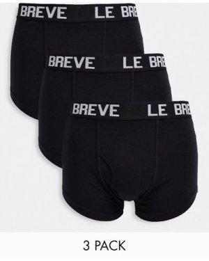 Le Breve 3 pack trunks in black
