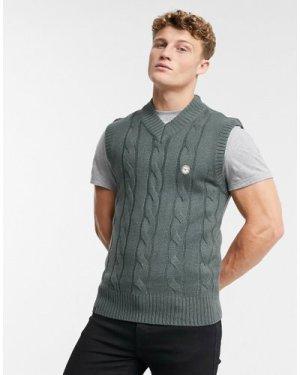 Le Breve rib knitted vest in grey