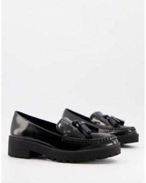 London Rebel tassel loafers-Black