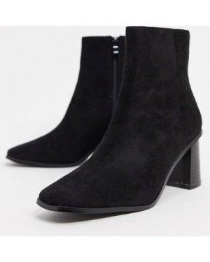 RAID Paulina square toe ankle boots in black