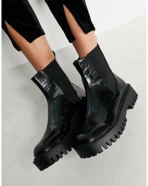 RAID Zinnia chelsea boots in black croc