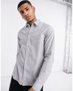 Calvin Klein Jeans dobby slim stretch long sleeve shirt-Black