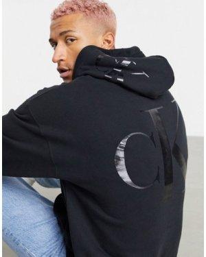 Calvin Klein Jeans large backprint logo hoodie in black