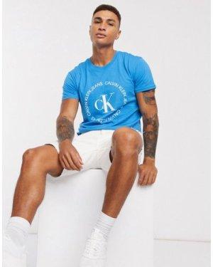 Calvin Klein Jeans logo regular t-shirt-Blue
