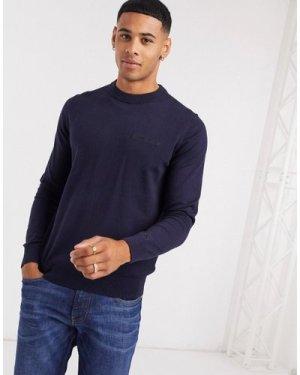 Calvin Klein Jeans institution chest logo jumper-Navy