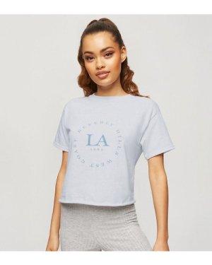 Miss Selfridge Petite LA t-shirt in white