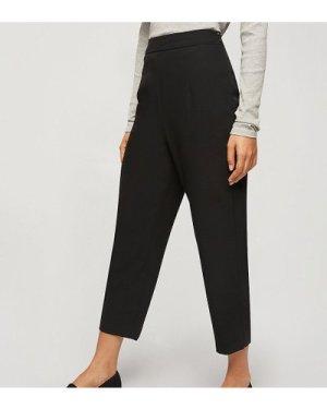Miss Selfridge Petite high waisted cigarette trouser in black