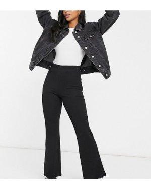 Miss Selfridge Petite kick flare trousers in black