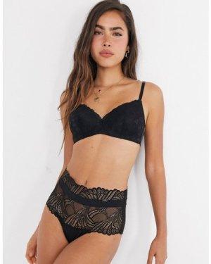 Lindex Flirt Emelie lace non wire bralette in black