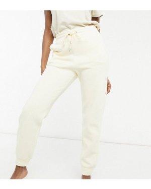 Lindex Exclusive Jo organic cotton fleece joggers in lemon-Yellow