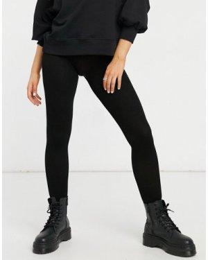 Lindex eco viscose ribbed leggings in black