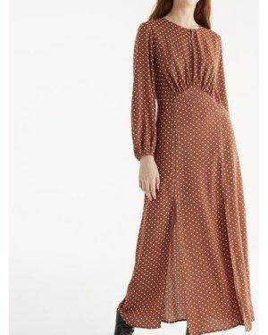 Whitley polka dot maxi dress