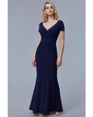 Goddiva Crossover Top Maxi Dress - Navy
