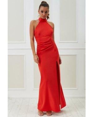 Vicky Pattison – Halter Neck Maxi Dress - Orange