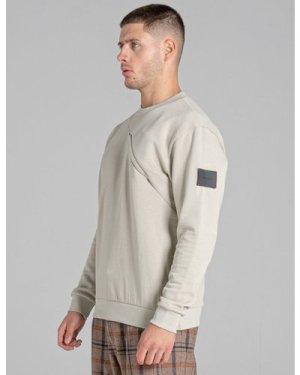 Bellfield Malte Mens Sweatshirt | Fog, Medium