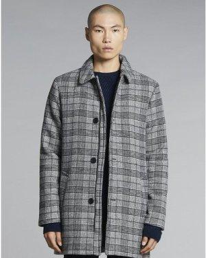 Bellfield Buckhan Mens Coat | Check, Extra Large