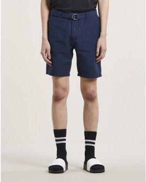 Bellfield Bengal Cargo Mens Shorts | Navy, 30 Inch Waist