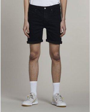 Bellfield Heroica Denim Mens Shorts   Black, 28 Inch Waist