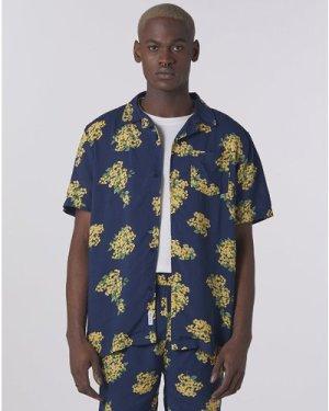 Bellfield Rampur Floral Men's Shirt   Navy, Medium