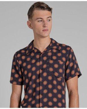 Bellfield Morena Printed Mens Shirt | Black, Medium