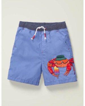 Fun Holiday Shorts Blue Boys Boden, Blue