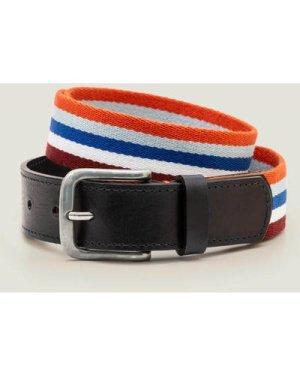 Stripe Webbing Belt Multi Men Boden, Multicouloured