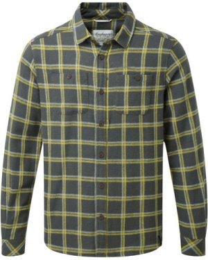Gillam Long Sleeved Check Shirt Dark Grey