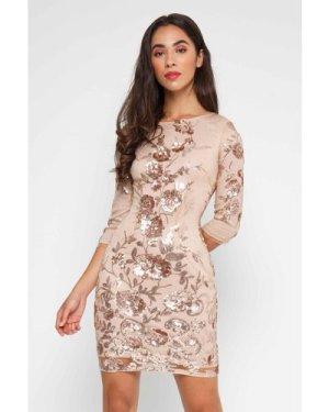 TFNC Paris Floral Multi Sequin Dress