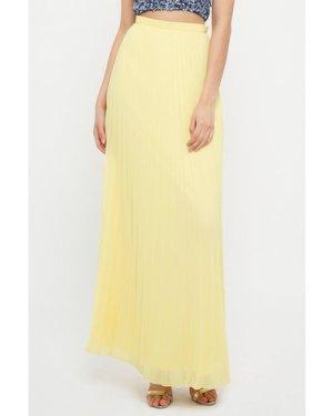 TFNC R22 Pale Yellow Maxi Skirt