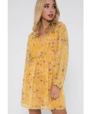TFNC Magal Mustard Mini Dress