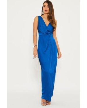 TFNC Solita Cobalt Maxi Dress