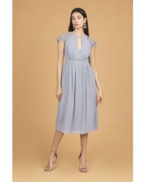 TFNC Neith Grey Blue Midi Dress